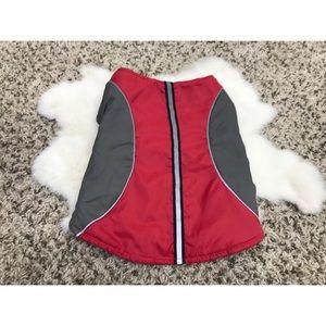 Dog Clothing Coat Jacket Reflective Lined Sz M